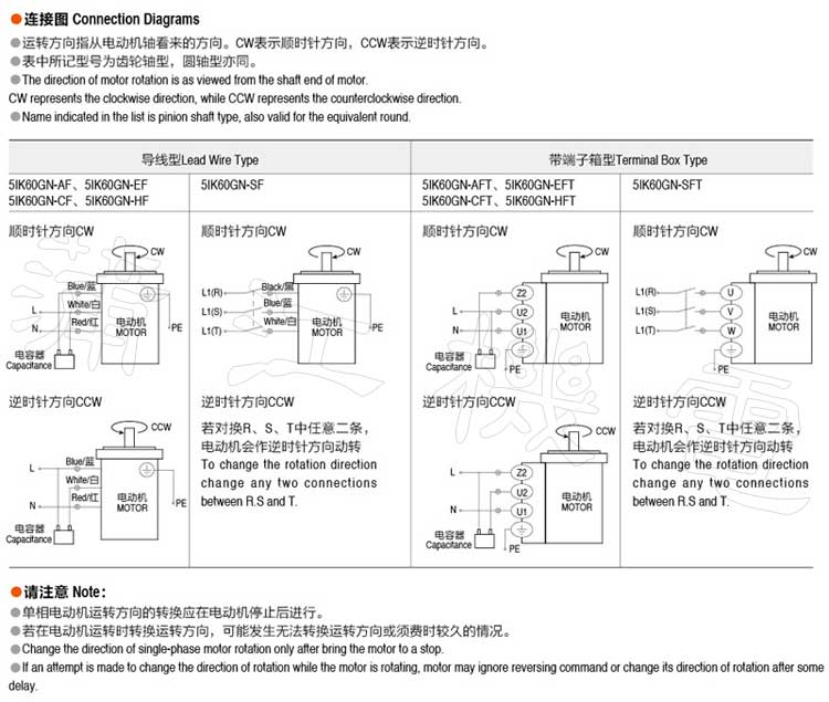 60wgn电机接线图